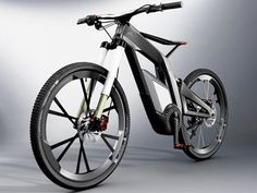 The new Audi electric bicycle, with a 2.3kw motor, cruising speed of up to 50 mph, and can communicate with your smartphone !