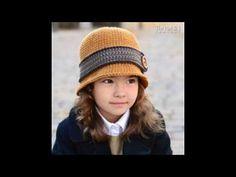 Gorros de ganchillo de mujer estilo vintage. Sombrero tejido años 20. Crochet cloche hat. Gali Craft - YouTube