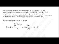 ESTADÍSTICA INFERENCIAL I, EJERCICIO 1: ESTIMACIONES PUNTUALES. MEDIA, VARIANZA Y PROPORCIÓN