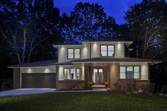Netmodern Lighting Atlanta : new Modern Prairie style home featuring Hardiplank siding with brick ...