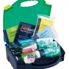 First Aid Kit - First Aid Kit 25-100 Persons Medium Kit Contains:      x2 Burn Dressings (10cmx10cm)     x30 Cleansing Wipes     x2 Conforming Bandages (7.5cmx4m)     x3 Eye Pad Dressings     x3 Finger Dressings     x2 Adult Foil Blankets     x1 Guidance Leaflet     x2 HSE Large Dressings (18cmx18cm)     x6 HSE Medium Dressings (12cmx12cm)     x1 Microporous Tape (2.5cmx5m)     x9 Pairs Nitrile Gloves     x60 Assorted Washproof Plasters     x1 Resuscitation Face Shield     x12 Safety Pins Burn Dressing, Safety Pins, Media Kit, First Aid Kit, Health And Safety, Burns, The 100, Survival First Aid Kit