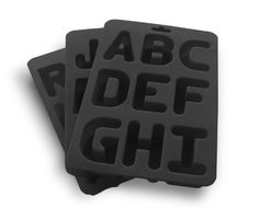 Save $8.90 on Suck UK Alphabet Ice Silicone Rubber Ice Cube Trays; only $21.10 + Free Shipping