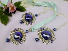 Blue glass with silver pendant by Mirtus63 on DeviantArt