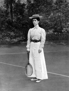 The History of Summer Olympics Fashion - Summer Sportswear Through the Decades Belle Epoque, 1900 Clothing, Liberty, Art Nouveau, Tennis Fashion, Vintage Fashion Photography, Edwardian Fashion, Edwardian Era, Sport Chic