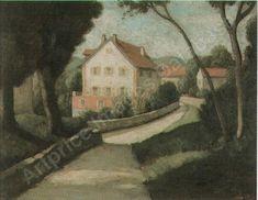 hausergruppe mit garten Auction, Canvas, Artist, Artwork, Painting, Lawn And Garden, Tela, Work Of Art, Auguste Rodin Artwork