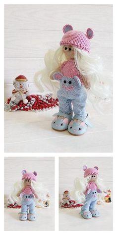 Amigurumi Pink Little Layd Free Pattern – Amigurumi Free Patterns And Tutorials Amigurumi Toys, Amigurumi Patterns, Free Crochet, Crochet Hats, 4 Ply Yarn, Hair Cover, Mohair Yarn, Hello Dear