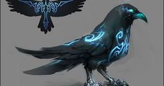 Ideas For Concept Art Character Design Ravens Mythical Creatures Art, Magical Creatures, Mythical Birds, Cute Fantasy Creatures, Creature Concept Art, Creature Design, Weapon Concept Art, Creature Drawings, Animal Drawings