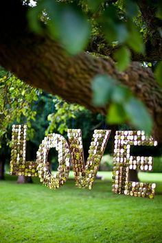 Shimmery Love Letters - Wedding Hanging Decor Prop Sign, Bespoke options available.