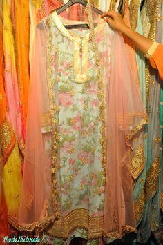 Floral Print Pink Anarkali - Madhu S - Best of Wedding Asia Delhi 2015