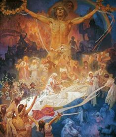 Alphonse Mucha-The Slavonic epic poem: The apotheosis of the Slavonic history