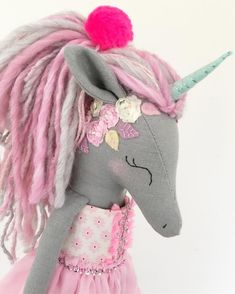 Image gallery – Page 119134352626140054 – Artofit Doll Crafts, Diy Doll, Yarn Crafts, Sewing Crafts, Unicorn Doll, Softie Pattern, Unicorn Crafts, How To Make Toys, Fabric Toys