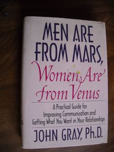Men Are From Mars, Women Are From Venus John Gray (1992) ~~ For Sale At Wenzel Thrifty Nickel eCRATER store