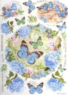 Rice Decoupage Paper, Decoupage Sheets, Scrapbooking, Decopatch, Butterflies 1