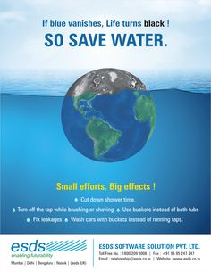 Small Efforts leads to Big Effects!  #WorldWaterDay #SaveWater