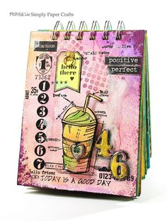 Such a Fun Art journal by Meihsia for the Simon Says Stamp Monday challenge (Use a Stamp)