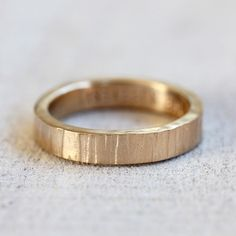 14k Gold Tree Bark Ring from Praxis Jewelry
