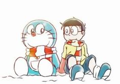 Best friends forever! (Doraemon and Nobita) by doraemonbasil