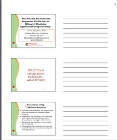 """Cultural Responsive PBIS""  handout from Illinois Alliance of Administrators of Special Education Winter Conference  2/13. Main Site http://www.iaase.org/static.asp?path=4073  Pinned by SOS Inc. Resources http://pinterest.com/sostherapy"