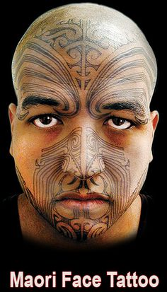 Maori Face Temporary Tattoo