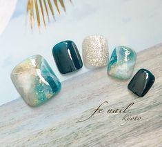 Gel Pedicure Designs Blue 58 Ideas in 2020 Pedicure Designs, Pedicure Nail Art, Toe Nail Designs, Toe Nail Art, Diy Nails, Swag Nails, Love Nails, Pretty Nails, Feet Nail Design