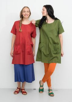 Tunic in cotton/viscose – Blouses & waistcoats – GUDRUN SJÖDÉN – Webshop, mail order and boutiques | Colourful clothes and home textiles in natural materials.