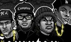 Check out the original art inspired by N. and the movie Straight Outta Compton. Dope Cartoons, Dope Cartoon Art, Black Cartoon, Arte Do Hip Hop, Hip Hop Art, Straight Outta Compton Movie, Rapper Art, Black Art Pictures, Rap Wallpaper