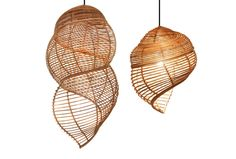 INTRODUCING THE INCREDIBLE RATTAN FURNITURE AND LIGHTING OF JITRIN JINAPRECHA & CORNER 43 - love these!! - would work brilliantly with Plumen bulbs (see the whole range at Plumen.com)