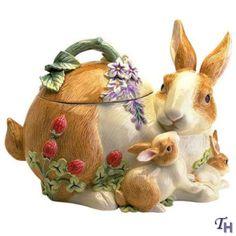 cookie jar | Botanical Bunny Cookie Jar by Fitz and Floyd