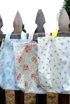 Vintage linens totes