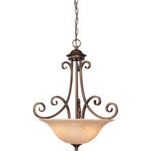 View the Dolan Designs 2094 Traditional / Classic 3 Light Bowl Pendant with Mojave Glass at LightingDirect.com.
