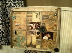 I have an old window I want to turn into rustic patio decor.....like this sample