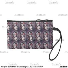 Alegria day of the dead coin purse by Renee Lavoie