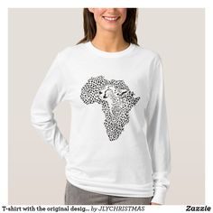 Shop T-shirt with the original design of Africa - Cheet created by JLYCHRISTMAS. Graphic Sweatshirt, T Shirt, Wardrobe Staples, Fitness Models, Africa, The Originals, Gender Female, Sweatshirts, Cheetah