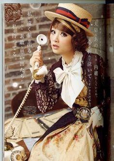Alice Deco a la Mode Autumn 2009 Victorian Costume, Steampunk Costume, Steampunk Fashion, Bold Fashion, Lolita Fashion, Girl Fashion, Visual Kei, Steam Girl, Steam Punk