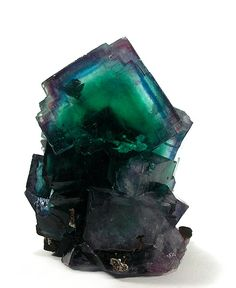 Fluorite Locality: Okorusu Mine (Okarusu Mine), Otjiwarongo District, Otjozondjupa Region, Namibia. Attribution: Rob Lavinsky The pics say it all! The crystal atop is almost 3 inches and complete save for a contact in the back. Pristine on the front and sides. ..now in the Jeff Starr collection, . 7.9 x 5.9 x 5.4 cm