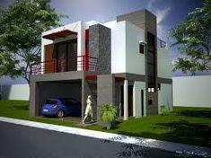 Resultado de imagen para fachadas cochera subterranea Two Story House Plans, Two Story Homes, House 2, Home Fashion, Jamaica, Mansions, House Styles, Design, Home Decor