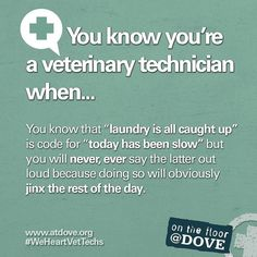 You know you're a Veterinary Technician when... This Is Your Life, The Life, Veterinarian Technician, Vet Tech Student, Vet Assistant, Tech Humor, Veterinary Medicine, Medicine Humor, Vet Med