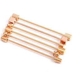 HJ Men's Jewelry 6 Pc Collar Bar Pin Set, Gold Tone Barbell Assorted Styles by HJ Collar Pin, Tie Pin, Bowties, Neckties, Pin Image, Men's Jewelry, Barbell, Cufflinks, Suits