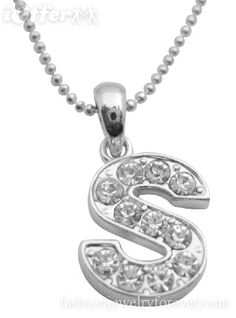 Letter S jewelry.