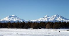 The Three Sisters - Cascade mountains,  - Oregon   Loved camping in the mts.