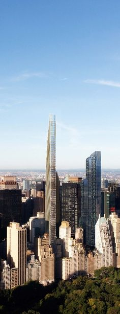 111 West 57th Street Tower, New York City designed by SHoP Architects :: 77 floors, height 417m, proposed, AFC