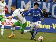 Bilder der Partie Schalke gegen Wolfsburg.
