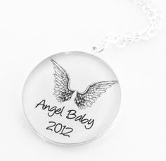 Mother's NecklaceSterling Silver Angel Baby by Metamorphosis07, $40.00