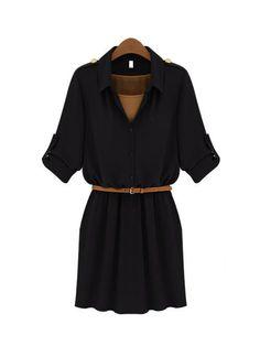 Half Sleeve Cotton Casual Dress Shift Dresses from fashionmia.com
