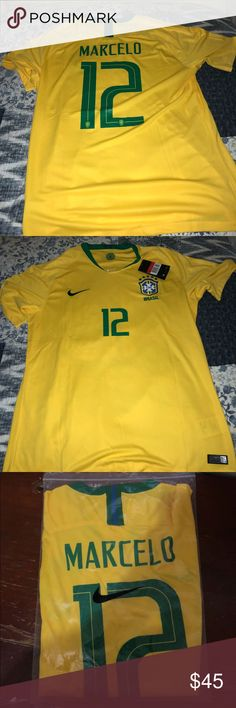 8da5a6f1c Brazil Marcelo 12 World Cup 2018 soccer jersey Brand new with tags Nike  Shirts Tees - Short Sleeve