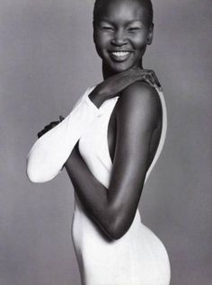 This Sudanese supermodel has been a show-stopper since her first turn on the catwalk back in 1995, at age 18. With her flawless skin and beatific smile, Wek does her Dinka tribe proud.  To read more about how she went from being aSudanese Refugee to International Supermodel. I would recommend reading her autobiography.