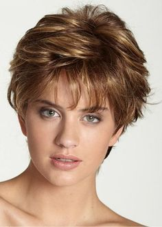 Last Chance! Ericdress Womens Short Layered Hairstyles Natural Straight Short Synthetic Hair Capless Wigs 8Inch #shoes #fashions Straight Layered Hair, Short Hair With Layers, Short Hair Cuts, Short Hair Styles, Pixie Cuts, Short Pixie Haircuts, Short Bob Hairstyles, Cool Hairstyles, Elegant Hairstyles