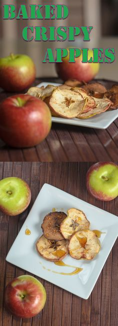Baked Crispy Apples | An awesomely easy gluten free snack!