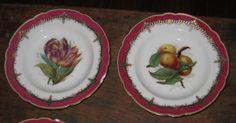 19th-C-Old-Paris-porcelain-French-V-Etienne-Rue-Paradis-8-HP-bowls-fruits-etc