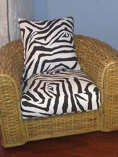 LAST CALL Ralph Lauren Rattan Chair With Zebra Print Upholstery, Pair  Available   EBay